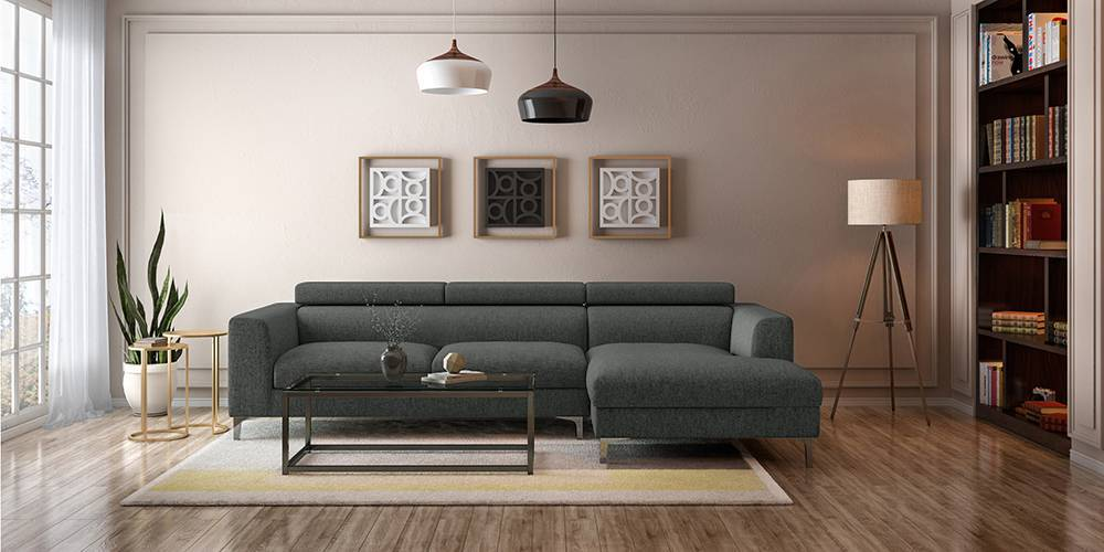 chelsea adjustable sectional sofa grey right aligned 3 seater chaise