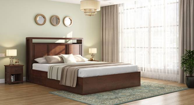 dixon storage bed with headboard storage solid wood