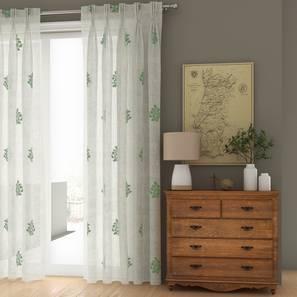 jaisalmer sheer window curtains set of 2 green 71 x 152 cm 28 x60 curtain size american pleat