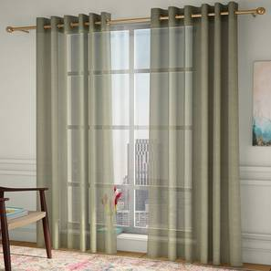 vegas sheer window curtains set of 2 lime green 132 x 152 cm 52 x 60 curtain size eyelet pleat
