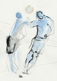 Serie Alles in Bewegung 11 | 2010 | Mischtechnik auf Papier | ca. 28 x 20 cm