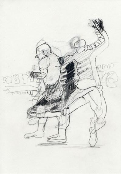 Serie Alles in Bewegung 12 | 2010 | Mischtechnik auf Papier | ca. 28 x 20 cm