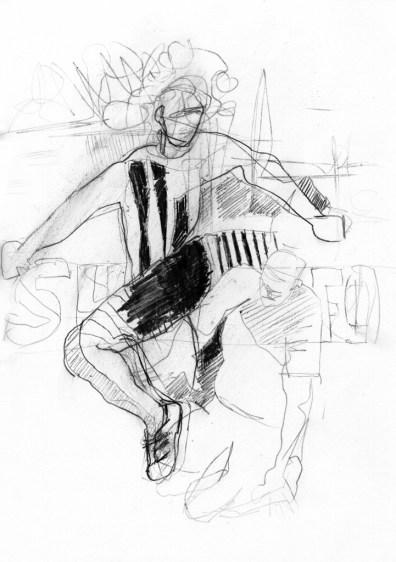Serie Alles in Bewegung 15 | 2010 | Mischtechnik auf Papier | ca. 28 x 20 cm