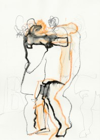 Serie Alles in Bewegung 02 | 2010 | Mischtechnik auf Papier | ca. 28 x 20 cm