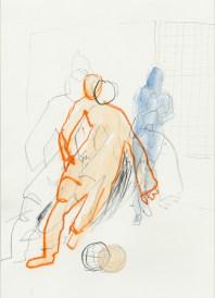 Serie Alles in Bewegung 09 | 2010 | Mischtechnik auf Papier | ca. 28 x 20 cm