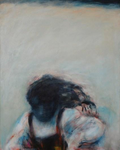 Kind rennt 2 | 2008 | Acryl auf Leinwand | 100 x 80 cm