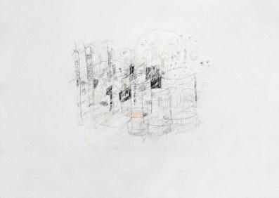 Serie 'Hör zu' 12 | 2013 | Mischtechnik auf Papier | 42 x 59,4 cm