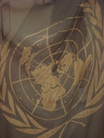 This flag was flown over the UN command during the 1950-53 conflict