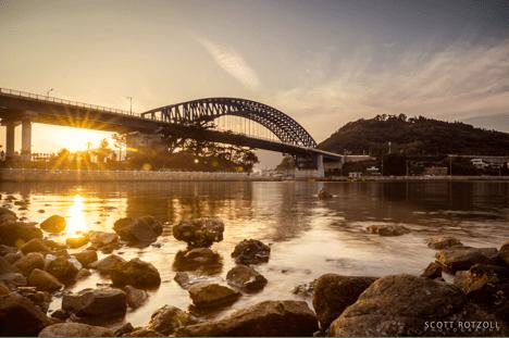 Tongyeong Grand bridge sunset