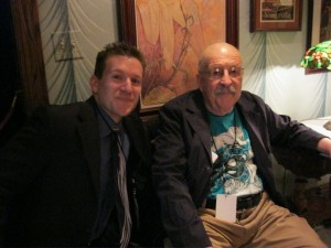 Marc Armani with Gene Wolfe at the Fuller Award ceremony
