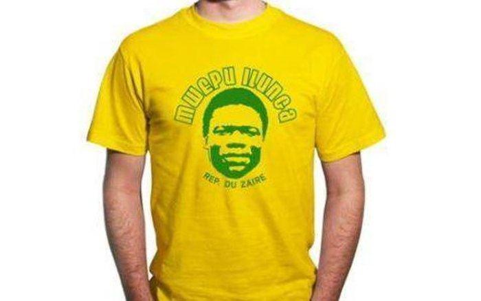 A lenda Mwepu Ilunga virou até tema de camiseta