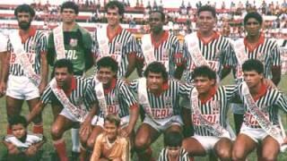 O Bandeirantes de 1986. Em pé: Paulo César, Moreira, Jorge, Vicente, Edson (em pé) Fumaça e Almeida; Brinda, Osni, Rubão, Valmir e Pedrinho (agachados)