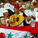 Torcida iraquiana presente em jogo de futebol em Atenas-2004