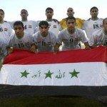Time iraquiano posado durante o Pré-Olímpico para o futebol em Atenas-2004