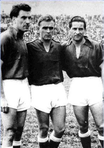 Nestor Rossi, Alfredo di Stéfano e Adolfo Pedernera: o Balé Azul do Millonarios em campo (Crédito: MIllonarios/Site oficial)