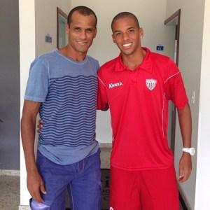Rivaldo aguentou o quanto podia para fazer um jogo ao lado do seu filho