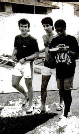 Neto e Mauro Galvão no Bangu em 1986 (Crédito: Placar/Reprodução)