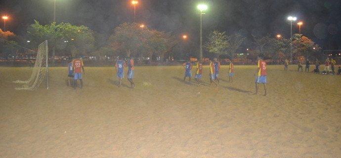 Treino do GAS em uma praça de Boa Vista (Crédito: Nailson Wapichana/Globo Esporte.com)