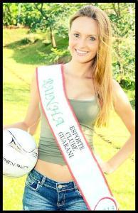 Michele participou de concurso de beleza relacionado ao futebol