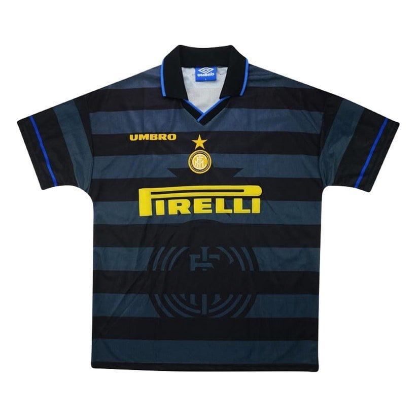 Inter de Milão (terceira camisa, da temporada 1997/1998): 374, 99 libras (R$ 2457,57)