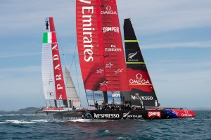 Emirates Team New Zealand . Testing on the Hauraki Gulf. 27/11/2012