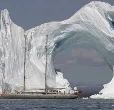 ghiacci nave a vela