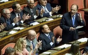 berlusconi e i suoi senato