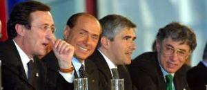 Berlusconi, Bossi, Casini, Fini