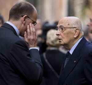 Napolitano ascolta Letta