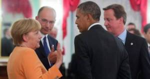 Merkel, Letta, Obama, Cameron
