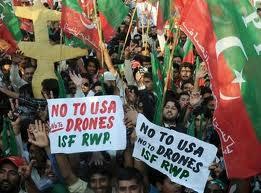 proteste contro droni