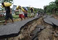strada spaccata terremoto