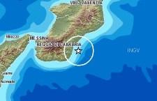 Terremoto di magnitudo 3,5 al largo delle coste calabre del Mar Ionio