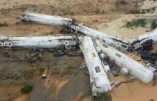 Australia : deraglia treno con acido a bordo. Sfollata larga area