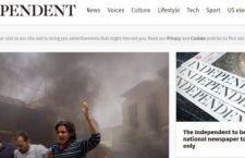 Londra: The Independent dal 26 marzo lascia l'edicola e va solo sul web
