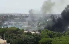 Roma: ancora incendi e nube tossica
