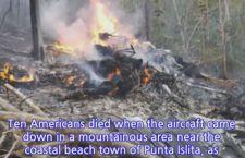 Costa Rica: cade aereo. 12 morti. 10 erano americani