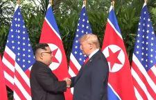 Corea: stretta di mano tra Trump e Kim jong un