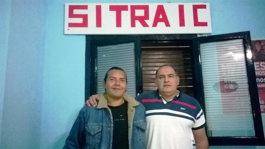 Leonardo Acuña junto a Marcelo Juárez