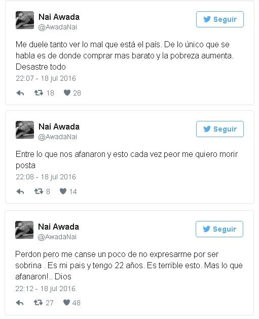 tweets sobrina de macri