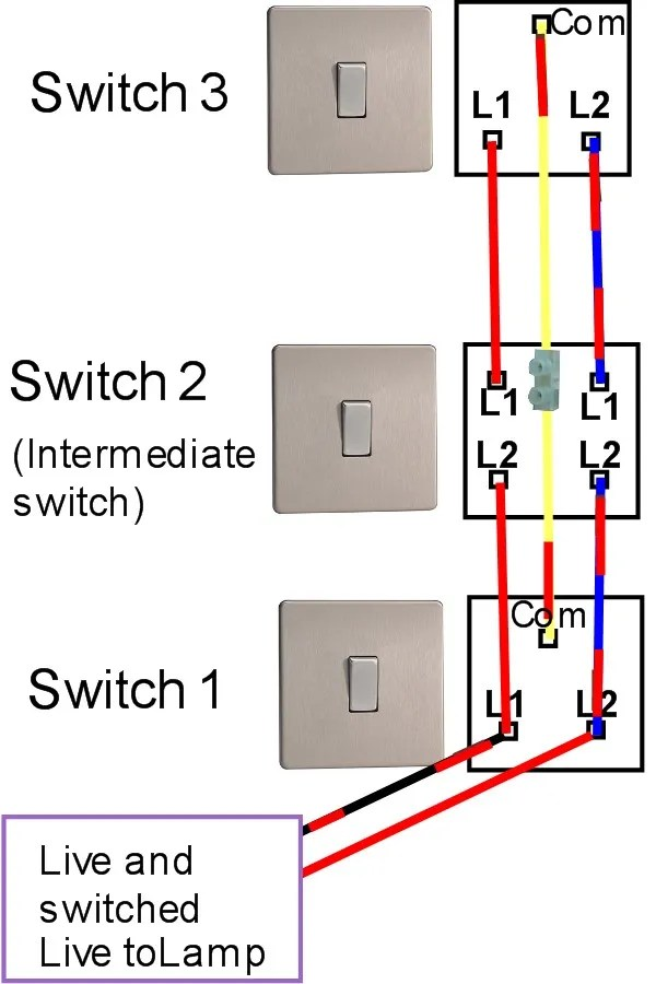 how to make a 3 way switch circuit