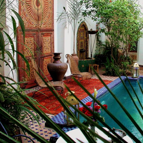 Exotic Moroccan Patios For Courtyards | Ultimate Home Ideas on Moroccan Backyard Design  id=19601
