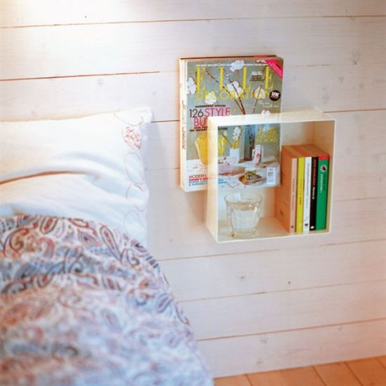Smart nightstand idea with wooden bedside decor - NO.1# THE MOST BEAUTIFUL DIY BEDROOM NIGHTSTAND IDEAS