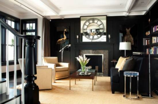 21 Black Wall Living Room Ideas Ultimate Home Part 84