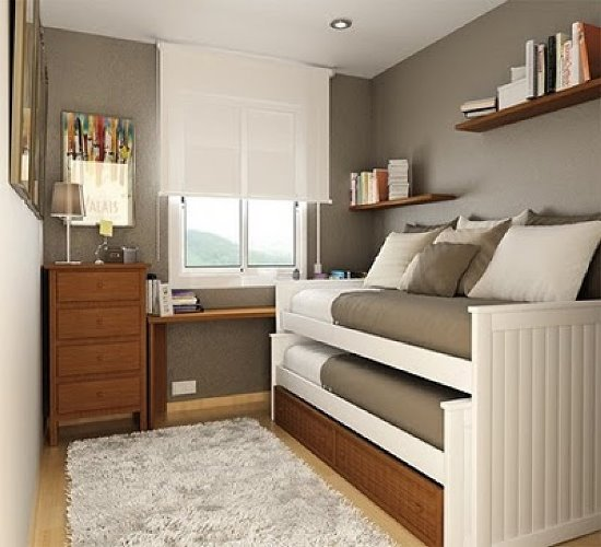 45 Guest Bedroom Ideas | Small Guest Room Decor Ideas ... on Very Small Bedroom Ideas  id=51062
