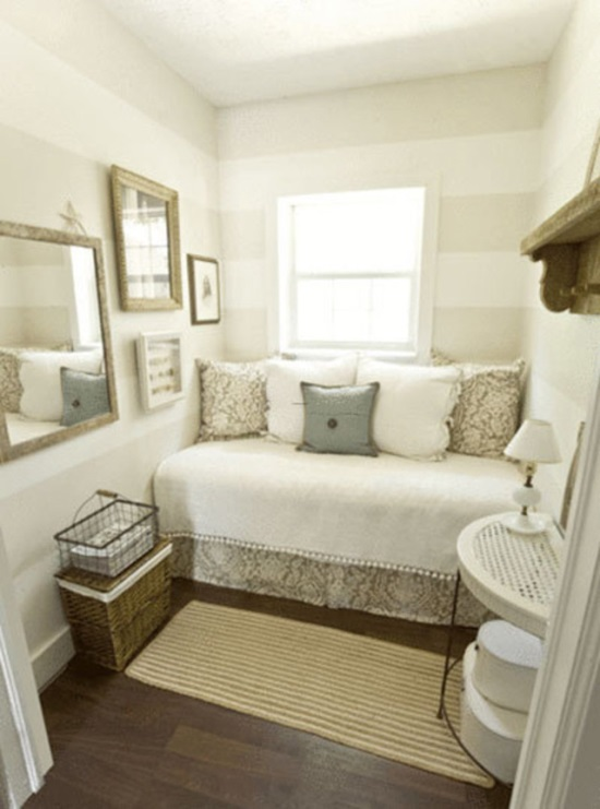 45 Guest Bedroom Ideas | Small Guest Room Decor Ideas ... on Very Small Bedroom Ideas  id=64701