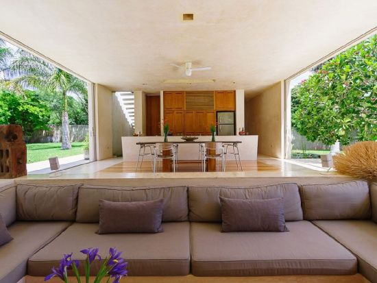 Elegant sunken living room design with airy feel - NO.1# BEAUTIFUL SUNKEN LIVING ROOM DESIGN IDEAS