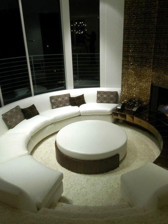 Modern curved sunken living room design - NO.1# BEAUTIFUL SUNKEN LIVING ROOM DESIGN IDEAS