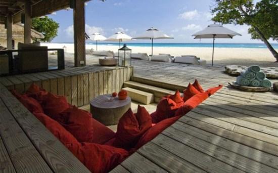 Outdoor wooden sunken living room design - NO.1# BEAUTIFUL SUNKEN LIVING ROOM DESIGN IDEAS