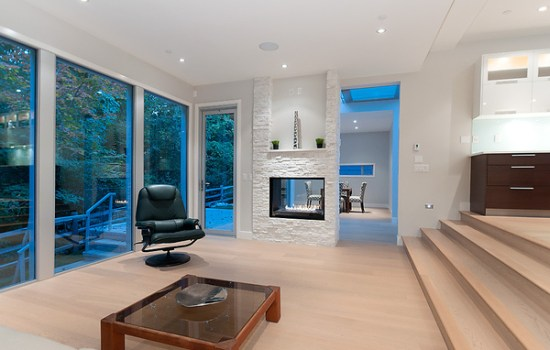 Stunning sunken living room design with open kitchen and view - NO.1# BEAUTIFUL SUNKEN LIVING ROOM DESIGN IDEAS